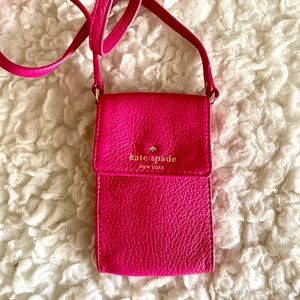 Kate Spade Pink Wallet on a Strap Cellphone Case